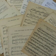 Vintage LOVE SONG sheet music paper maybe for art craft decoupage cards