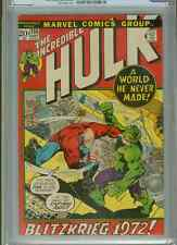 Incredible Hulk #155 (1st Shaper of Worlds)  CGC 8.0  OW-WP