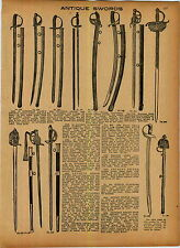 1927 AD Antique Swords Claymores Spanish Cavaliers' Sabers Army Weapon History