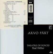 ARVO PART  de profundis  THEATRE OF VOICES , PAUL HILLIER