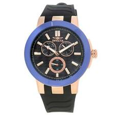Invicta 22210 Gent's Blue Ceramic Bezel Silicone Band Quartz Watch
