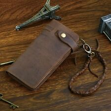 New Men's Genuine Leather Cowhide Long Wallet Money Card Holder Purse Clutch bag