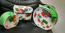 Vintage 1960's 3 Piece Kids Luggage Set, Mushroom Kids!  Very Cool!