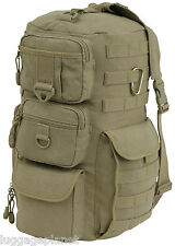 Mercury Luggage ATTACH Multi Sling MOLLE Hiking Camping Backpack 7314-AT Khaki