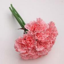 1 Bunch Artificial Silk Flowers 6 Single Carnation Bouquet Wedding Decor #3