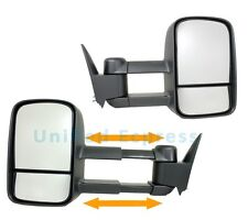Telescoping Towing Mirrors(L+R Side)~Manual 89-98 Chevy GMC Pickup Truck C/K C10