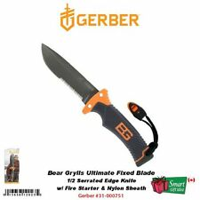Gerber Bear Grylls Ultimate Fixed Blade Knife, w/Firestarter & Sheath #31-000751