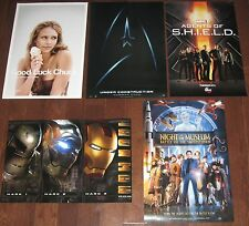 5 Movie & TV Poster Lot Star Trek Iron Man Marvel Agents of Shield Jessica Alba