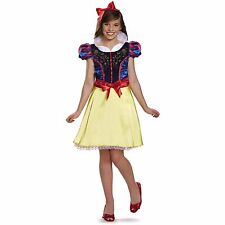 Snow White Disney Princess Teen Halloween Costume w/ Headband Size L Brand New
