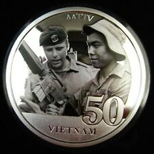 AATTV AUSTRALIAN ARMY TRAINING TEAM VIETNAM LIMITED EDITION COIN MEDAL BADGE (0)