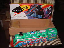 VINTAGE, NOS, PUFF-PUFF BATTERY OPERATED LOCO TRAIN IN ORIGINAL BOX & TESTED!