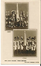 POSTCARD ROYAL SCOTS FUSILIERS PERIOD COSTUME SOUTHERN COMMAND TATOO C1920'S