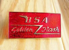 BSA Golden Flash pin / badge red A10 650cc twin Rocker Ace Cafe Racer 59 Ton Up