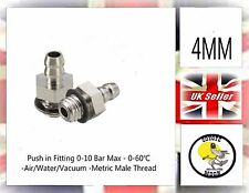 2xPneumatic fittings hose tube push fit connector M5 x 4mm Barb vacuum UK SELLER