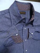 Mens Vintage Newcastle Ltd. Rockabilly Polk A Dot Flip Cuff Long Sleeve Shirt
