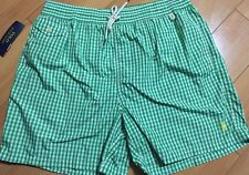 Polo Ralph Lauren Traveler Gingham Swim Shorts Trunks Green Size XL  NWT