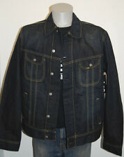 NWT Lee denim trucker jacket L Rigby dark blue wash modern cut mens classic fit