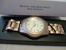 "AVON METALLIC HUES MATTE WATCH ""ROSE GOLDTONE"" 8"" L with 2 Extenders"