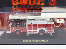 Code 3 Chicago FD Squad 2A Snorkel Fire Truck 1:64 Diecast 12646