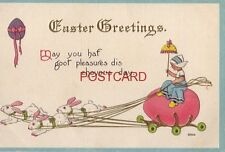 embossed EASTER GREETINGS May you haf goot pleasures dis choyous day. Dutch girl