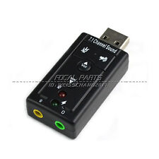 USB2.0 External 7.1 Channel 3D Virtual Audio Sound Card Adapter PC US SHIP