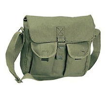 SALE! Vintage Style Green Military Ammo Shoulder Bag Messenger Pack Travel Gear