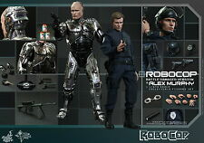 HOT TOYS 1/6 ROBOCOP MMS266 BATTLE DAMAGED & ALEX MURPHY 2-PACK SET FIGURE K
