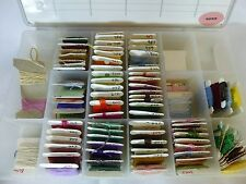 70+ Cards Assorted Embroidery Floss In Darice Plastic Organizer Box