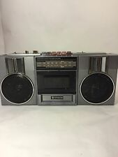 Hitachi AM/FM Radio Cassette Player Boom Box Blaster TRK-6820H TESTED WORKS