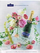 Publicité Advertising 2014 Le Champagne Pommery