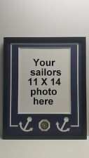 17 X 21 Picture Frame and Matting for US Navy Photo