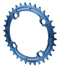 Race Face Single Narrow Wide 1x MTB Chainring - 104mm BCD 34t Blue