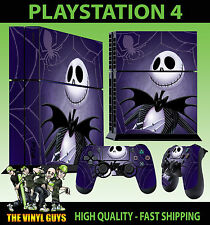 PS4 Skin Nightmare Before Christmas Jack Pumpkin Sticker + Pad decal Vinyl STOOD