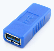 New Blue USB 3.0 A Female To A Female Adapter Coupler Converter Connector #304
