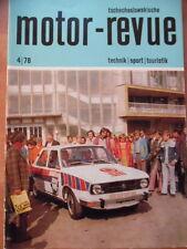 Tschechoslowakische MOTOR REVUE  4-1978 Salon Brüssel Jawa-Babetta Tatra-Ostrava