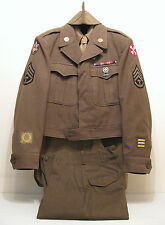 WW2 WWII U.S. Army EM Wool Uniform Complete Original in Excellent Condition