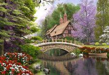 Nouveau! castorland river cottage 1000 pièce nostalgique jigsaw puzzle