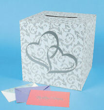 WEDDING CARD Money Gift BOX TWO HEARTS RECEPTION wishing well