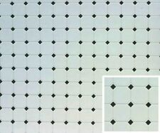 Dollhouse Building Supplies Diamond, 11X16, Black Flooring FF60640