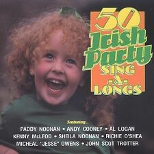 50 Irish Party Sing-A-Longs by Various Artists (CD, 1995, Rego Irish Music)
