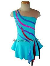 Colourful Ribbon stick Ice Skating Dress Figure Skating Dress  Kid/Adult 5180-1