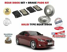 FOR LEXUS IS250 2.5i + MARK X 2005-  NEW REAR BRAKE DISCS SOLID  SET + PADS KIT