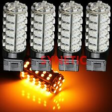 4x 7443 High Power Amber Yellow SMD LED Turn Signal Blinker Light Bulbs