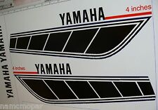 1976 1977 Yamaha YZ 100 125 motorcycle decals, BLK+WH, 1pr, NEW INSTALL KIT