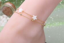 Women Multilayer Chain Charm Star Anklet Bracelet Barefoot Sandal Foot Jewelry