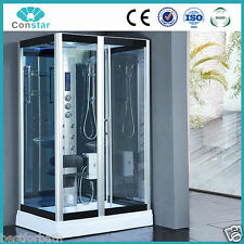 Square Steam Shower Enclosure w/Hydro Massage.Bluetooth Audio.USA Warranty. HD