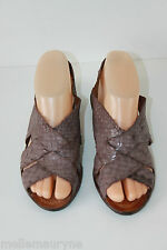Sandales Simili Cuir Tressé Parme Made In Italy T 36 TBE