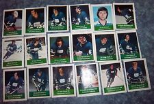 Vancouver Canucks loblaws NHL action players 1974-75  complete set