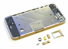 Apple iPhone 4 marco intermedio Middle frame carcasa marco Bezel teclas oro mate