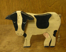 TENDER HEART TREASURES #61112 COW, wood can be hung, NEW from Retail Shop